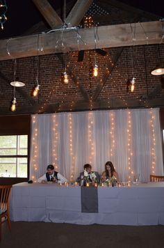 Head table & lighting