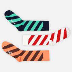 Socks Multi Stripe 3 Pack III now featured on Fab. Crazy Socks, Cool Socks, Groom And Groomsmen Attire, Brown Paper Packages, Colorful Socks, Happy Socks, Birthday List, Sock Shoes, Cute Gifts
