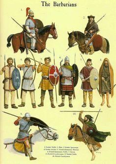 Late Roman Empire: Illistration of Barbarian- Barbaros ./tcc/