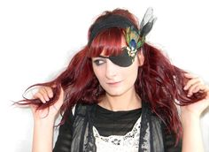 Leather Eye Patch Gothic Steampunk Sexy Cosplay with by Elyseeart, $35.00