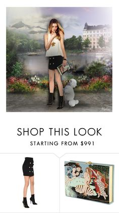 """""""A True Friend Leaves Paw Prints On Your Heart"""" by thewondersoffashion ❤ liked on Polyvore featuring Balmain, Olympia Le-Tan, Aurélie Bidermann, art and dolls"""