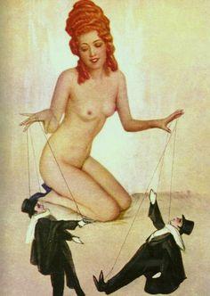 z- Woman & Male Puppets- maybe- Dueling- Atelier (Studio) Manasse- Vienna, 1920 -2b