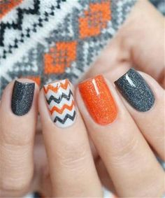 Multicolored Vine on Nails. The multicolored background and black vine over make. - Multicolored Vine on Nails. The multicolored background and black vine over makes another amazing nail art design to wear this season. Fall Nail Art Designs, Halloween Nail Designs, Colorful Nail Designs, Halloween Nail Art, Halloween Halloween, How To Do Nails, Fun Nails, Cute Nails For Fall, Multicolored Nails