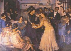 La boda. 1934. Caja Rural de Extremadura. Obra de Eugenio Hermoso