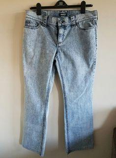 Allen B by Allen Schwartz Size 14 Acid Wash Low Rise Denim Jeans LN #AllenBbyAllenSchwartz #StraightLeg
