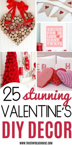Looking for easy DIY Valentine's Day Decor ideas? Here are 20 of the best DIY V… Looking for easy DIY Valentine's Day Decor ideas? Here are 20 of the best DIY Valentine's Day Decor projects that you can make with dollar store supplies. Valentine Day Wreaths, Valentines Day Decorations, Valentine Day Crafts, Holiday Crafts, Valentine Ideas, Funny Valentine, Homemade Valentines, Valentines Day Activities, Valentines Day Party