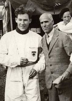 Icons - Tazio Nuvolari and young Stirling Moss.