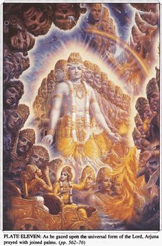 Step of the Mahabharata and the Bhagavad Gita where Krishna reveals the hero Arjuna the multiple aspects Hare Krishna, Krishna Hindu, Hindu Deities, Krishna Lila, Shiva, Hanuman, Lord Krishna Images, Radha Krishna Images, Krishna Pictures