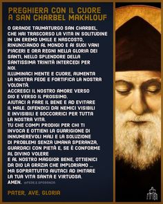 Per l'intercessione di San Charbel St Charbel, Catholic Prayers, Saints, God, Movie Posters, December, Dios, Mother Teresa, Sorrow Quotes