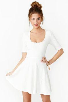 save of For Love & Lemons Tripp Dress on Wanelo White Skater Dresses, Little White Dresses, Mini Dresses, Women's Fashion Dresses, Dress Outfits, Unisex Clothes, Simply Fashion, Women's Evening Dresses, Vintage Outfits