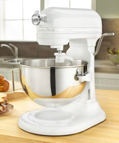 White Professional Plus 5-Qt. Stand Mixer  - no kitchen should be without one