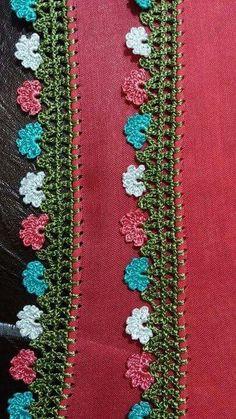 Oya Crochet Edging Patterns, Crochet Borders, Diy Crochet, Crochet Dolls, Kare Kare, Needle Lace, Needlework, Diy And Crafts, Bohemian Rug