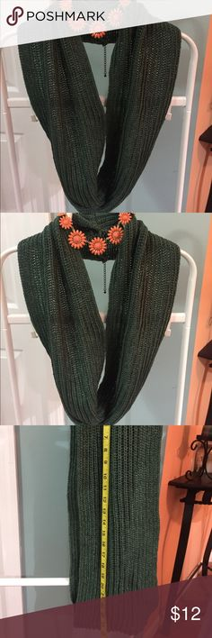 Infinity wool scarf!! All new. Infinity wool scarf Green grass on the dark side! Other