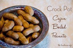 The Landrum Wife: Crock Pot Cajun Boiled Peanuts