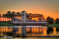 Sunset at the Tradition in Port St Lucie Florida. I loved to run around this little lake.