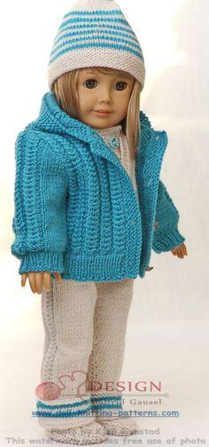 modèle de tricot pour poupée American Girl chandail
