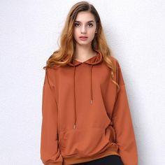 Hoodies Women Camel hooded Sweatshirt Long Sleeve Pullover Loose Casual Hoody Black Green Red Plus Size S-5XL