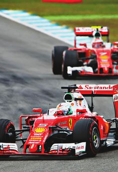 Sebastian Vettel ahead of Kimi Raikkonen GP Germany 2016