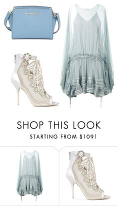 """""""simple"""" by danijeps ❤ liked on Polyvore featuring Chloé, Sophia Webster and MICHAEL Michael Kors"""
