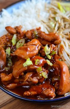 Slimming Eats Hoisin Chicken - dairy free, Slimming World (SP) and Weight Watchers friendly Slimming World Dinners, Slimming World Recipes Syn Free, Slimming World Diet, Slimming Eats, Slimming Word, Atkins, Skinny Recipes, Healthy Recipes, Savoury Recipes