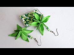 DIY - Boucles d'oreilles fleurs en origami - YouTube