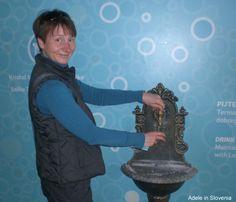 Drinking the thermal water at the Thermana Laško spa