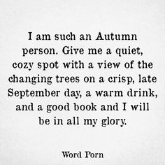 I'm such an autumn person
