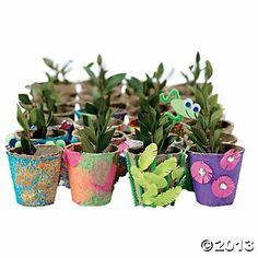 Do It Yourself Watch It Grow Seed Pots. Plant flowers or herbs in these pots and watch them grow! Made of biodegradable peat fiber, these miniature pots are . Kids Craft Supplies, Craft Kits, Party Supplies, Crafts For Kids, Vbs Crafts, Craft Ideas, Toddler Crafts, Decor Ideas, Earth Day Activities