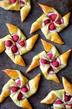 Raspberry Cream Cheese Pinwheel Pastries Recipe