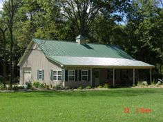 Ideal 30 x 50 metal building home w wrap around porch hq for Barn home builders near me