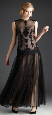 Downton Abbey Inspired Dress Gown- Love the sheer layers http://www.vintagedancer.com/1920s/1920-downton-abbey-inspired-clothing/