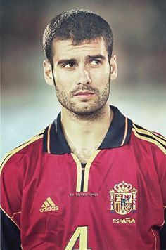 Pep Guardiola del Barcelona y la Selección Española.