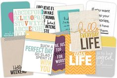 FREE STUFF: Quote cards for Project Life in both 3x4 and 4x6 sizes.