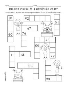 Students will practice place value by completing the missing numbers from the hundreds chart. Students will practice adding numbers by 1 and 10 and subtracting numbers by 1 and (Cool Places Numbers) Place Value Activities, Math Place Value, Place Values, Math Activities, Math Classroom, Kindergarten Math, Teaching Math, Science Experience, Year 1 Maths
