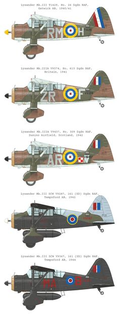 Westland Lysander in RAF colours, Western Europe, 1940-44 | source: Eduard…