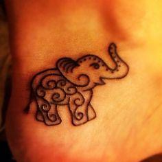 little elephant tribal tattoo