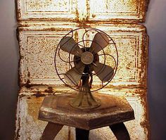 vintage Polar Cub electric fan
