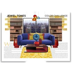 jewel tone home decor | home decor collage from August 2013