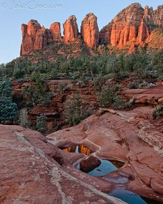 Seven Sacred Pools, Sedona, AZ. Accessed by a moderate 2-mi. hike up Soldier Pass,