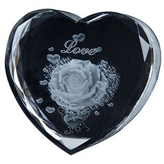 IFOLAINA Laser Crystal Heart Gift Subsurface Engraved Hearts Rose Custom Names and Blessings Acceptable White * Continue to the product at the image link. 3d Laser, Gift Baskets, Blessings, Image Link, Blessed, Hearts, Names, Amazon, Crystals