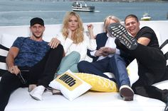Gustaf Skarsgard Photos Photos - (L-R) Actors Gustaf Skarsgard, Katheryn Winnic, writer/producer Michael Hirst and actor Alex Hogh Anderson on the #IMDboat at San Diego Comic-Con 2017 at The IMDb Yacht on July 21, 2017 in San Diego, California. - #IMDboat at San Diego Comic-Con 2017: Day Two