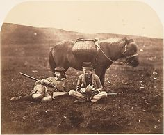 Horatio Ross (British, 1801–1886). [Charlie and Peel Ross with Horse after a Hunt], ca. 1856–59. The Metropolitan Museum of Art, New York. Gilman Collection, Gift of The Howard Gilman Foundation, 2005 (2005.100.552 (25))