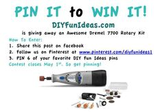PIN IT TO WIN IT CONTEST!!!..........http://diyfunideas.com ============ THE BEST DIY SITE EVER!