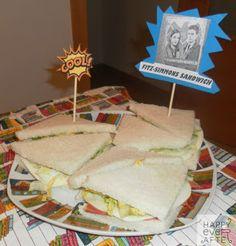 Fiesta Los Vengadores. Sándwiches Fitz-Simmons. (Todo proporcionado por la anfitriona)