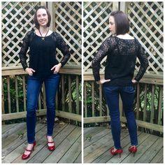 Raglan Sleeve Split Neck Top by Seamingly Smitten — Pattern Revolution