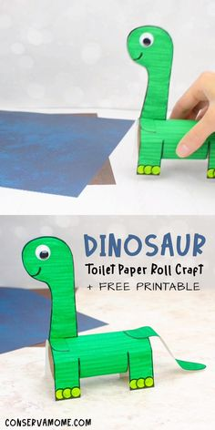Looking for a fun Dinosaur craft you can make with your kids? Then check out this incredibly easy and fun Dino craft! Upcycle toilet paper roll crafts in a fun new way. Head over to my page and check out this easy Dinosaur Toilet paper roll craft. This is an easy dinosaur craft for preschooler. #toiletpapaperollcraft #dinocraft #dinosaurcraft Dinosaur Crafts Kids, Dino Craft, Dinosaur Activities, Fun Crafts For Kids, Craft Activities For Kids, Toddler Crafts, Paper Dinosaur, Dino Kids, Easy Preschool Crafts
