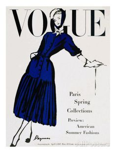 Vogue Cover - April 1947 Regular Giclee Print van Dagmar bij AllPosters.nl