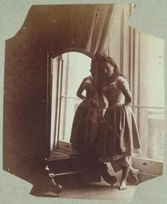 Photograph by Lady Clementina Hawarden, of her daughter Clementina, about 1862-3.
