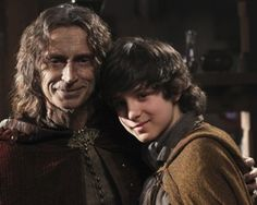 Rumpelstiltskin & his son Bae  -  Once Upon A Time  -  ABC  -  2012
