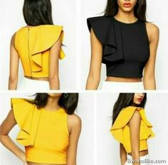 Outfits for Teens Casual clothing #outfits #fall #winter #casual #summer #cute outfits for scholl www.fashiondivaly.com outfits of the day (280) Diy Fashion, Fashion Outfits, Womens Fashion, Fashion Design, Fashion Trends, Blouse Styles, Blouse Designs, Elegantes Outfit, Bustiers